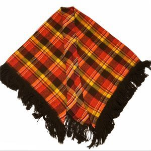 Tartan Style Plaid Shawl Warm Fall Colors